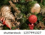 christmas tree background | Shutterstock . vector #1257991327