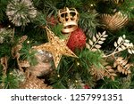 christmas tree background | Shutterstock . vector #1257991351