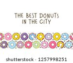color donuts background for... | Shutterstock .eps vector #1257998251