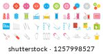sewing and handcraft elements... | Shutterstock .eps vector #1257998527
