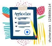 vector application form.... | Shutterstock .eps vector #1258006114