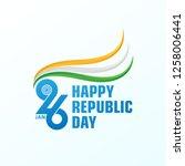 happy republic day background.... | Shutterstock .eps vector #1258006441