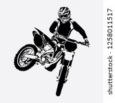 freestyle motocross vector...   Shutterstock .eps vector #1258011517