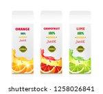 juice citrus cardboard box... | Shutterstock .eps vector #1258026841
