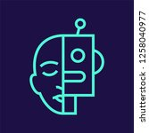 cyborg line vector icon   Shutterstock .eps vector #1258040977
