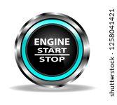 automotive glass  shiny start... | Shutterstock .eps vector #1258041421