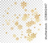 crystal snowflake and circle... | Shutterstock .eps vector #1258042447