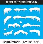 snow caps  snowballs and... | Shutterstock .eps vector #1258043044