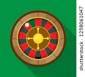 roulette wheel fortune icon... | Shutterstock .eps vector #1258061047