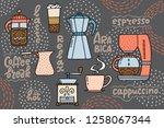 coffee maker  the american... | Shutterstock .eps vector #1258067344