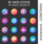 communication icon set.... | Shutterstock .eps vector #1258078444