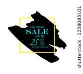 sale 25  off sign over art... | Shutterstock .eps vector #1258085101