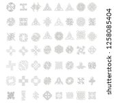 monochrome icon set  with... | Shutterstock .eps vector #1258085404