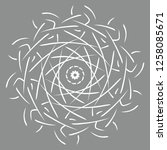 mandala vector illustration.... | Shutterstock .eps vector #1258085671