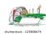 air boat | Shutterstock . vector #125808674