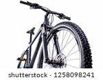 mountain bike against a white...   Shutterstock . vector #1258098241
