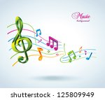 abstract music background. | Shutterstock .eps vector #125809949