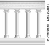 architectural element colonnade ... | Shutterstock .eps vector #1258103857