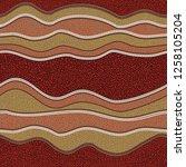 australian aboriginal art... | Shutterstock .eps vector #1258105204