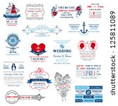 wedding invitation collection   ... | Shutterstock .eps vector #125811089