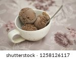 silky smooth chocolate ice... | Shutterstock . vector #1258126117