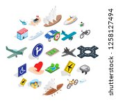safe transport icons set.... | Shutterstock .eps vector #1258127494