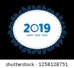 2019 happy new year creative...   Shutterstock .eps vector #1258128751