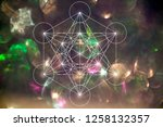 mercabah metatrone cube sacred... | Shutterstock . vector #1258132357