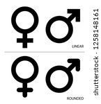 gender icon  male and female ... | Shutterstock .eps vector #1258148161
