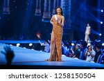 Small photo of Bangkok, Thailand - Dec 13, 2018: Catriona Gray of Phillipines competes in the evening gown competition during the Miss Universe 2018 preliminary round, the final to be held in Bangkok on 17 December