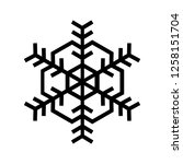 snowflake icon. beautiful six... | Shutterstock . vector #1258151704