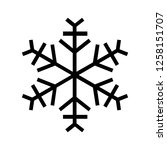 snowflake icon. beautiful six... | Shutterstock . vector #1258151707