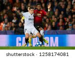 santi mina of valencia and fred ... | Shutterstock . vector #1258174081