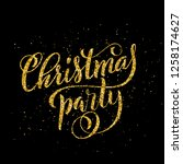 gold merry christmas party... | Shutterstock . vector #1258174627