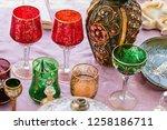 glass full color vintage  | Shutterstock . vector #1258186711