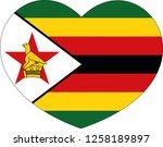 zimbabwe flag in a heart vector ... | Shutterstock .eps vector #1258189897