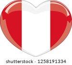 peru flag in a heart vector ... | Shutterstock .eps vector #1258191334