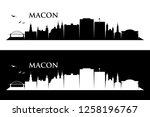 macon skyline   georgia  united ...   Shutterstock .eps vector #1258196767