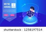 isometric hiring  recruitment... | Shutterstock .eps vector #1258197514