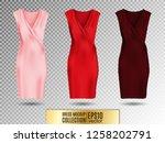 women's dress mockup collection.... | Shutterstock .eps vector #1258202791