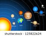 illustration of solar system... | Shutterstock .eps vector #125822624