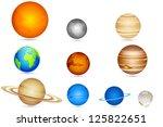 Illustration Of Set Of Planets...