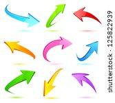 illustration of set of colorful ... | Shutterstock .eps vector #125822939
