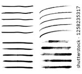 set of 20 pieces grunge edges...   Shutterstock .eps vector #1258235317
