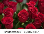 Stock photo red roses close up background 125824514
