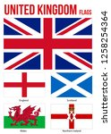 united kingdom flags collection ...   Shutterstock .eps vector #1258254364