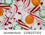 candy cane  spearmint ... | Shutterstock . vector #1258257331