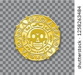 gold medallion of pirates of... | Shutterstock .eps vector #1258263484