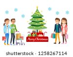 new year's eve sale and... | Shutterstock .eps vector #1258267114