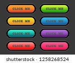 set colorful buttons | Shutterstock .eps vector #1258268524